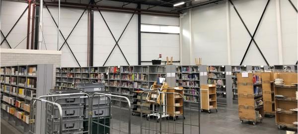 Eerste werkdag Collecties & Logistiek op nieuwe locatie