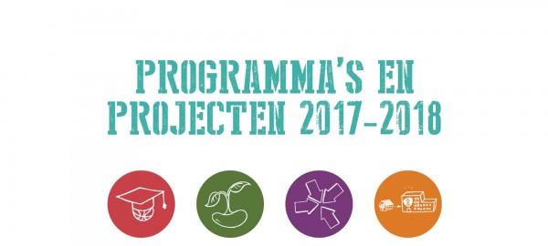 Programmas en projecten 2017-2018: stand van zaken