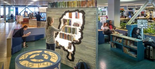 Muziekservice in Airport Library