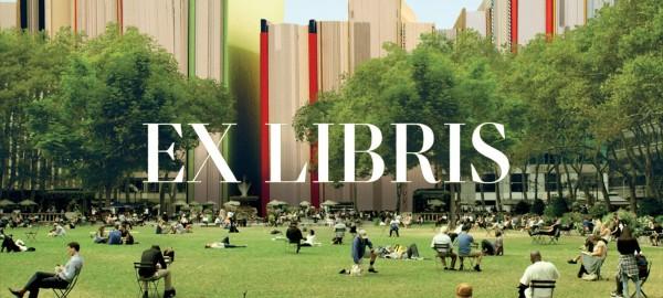 De vlieg zijn, op de muur van de New York Public Library