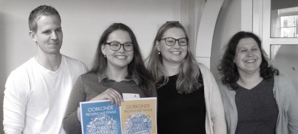 Pabostudente Iris Jansen is beste voorlezer van Noord-Holland