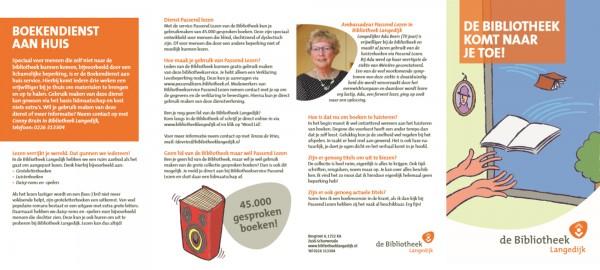 Van onze marketeers: Passend Lezen voor de Bibliotheek Langedijk
